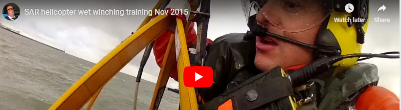 SAR Wet-winch training